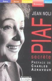 Piaf secrète - Intérieur - Format classique