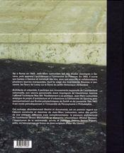 Jean-Marc Lamunière ; regards sur son oeuvre - 4ème de couverture - Format classique