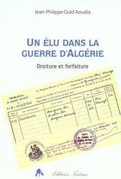 Un elu dans la guerre d'algerie - Intérieur - Format classique