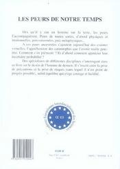 Les Peurs De Notre Temps - 4ème de couverture - Format classique