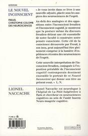 Le nouvel inconscient ; freud, christophe colomb des neurosciences - 4ème de couverture - Format classique