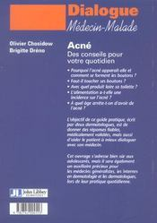Acne Des Conseils Pour Votre Quotidien - 4ème de couverture - Format classique