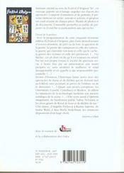 Avignon 1999, les cles du festival - 4ème de couverture - Format classique