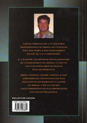 Le Sens Du Bridge - 4ème de couverture - Format classique