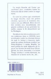 Rituel De Magie Blanche - T. 1 - 4ème de couverture - Format classique