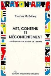 Art, Contenu Et Mecontentement - Couverture - Format classique