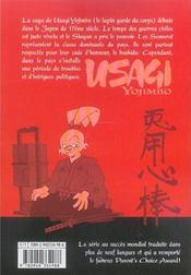Usagi yojimbo t.1 - 4ème de couverture - Format classique