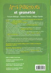 Arts plastiques et géométrie ; CP/CE1 ; fiches à photocopier - 4ème de couverture - Format classique