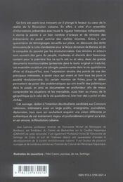 Cuba ; au coeur de la révolution ; acteurs et témoins - 4ème de couverture - Format classique
