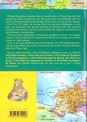 Petit Atlas Du Moyen Age - 4ème de couverture - Format classique
