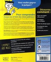 Le Casino Pour Les Nuls - 4ème de couverture - Format classique