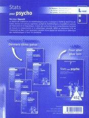 Stats pour psycho - 4ème de couverture - Format classique