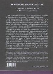 Le mystérieux docteur Cornélius t.7 et t.8 - 4ème de couverture - Format classique