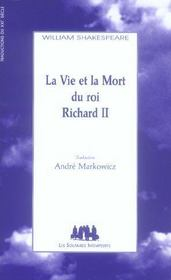 La Vie Et La Mort Du Roi Richard Ii - Intérieur - Format classique