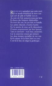 La Vie Et La Mort Du Roi Richard Ii - 4ème de couverture - Format classique
