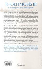 Thoutmosis III et la corégence avec Hatchepsout - 4ème de couverture - Format classique