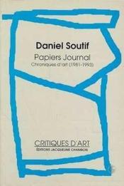 Papiers Journal - Couverture - Format classique