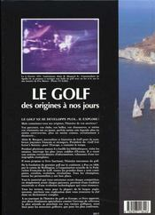 Le Golf des origines à nos jours - 4ème de couverture - Format classique