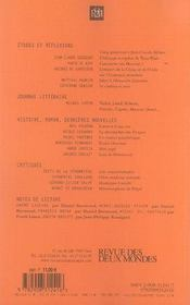 Revue Des Deux Mondes N.12 ; Histoire, Roman, Dernières Nouvelles - 4ème de couverture - Format classique