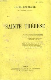 Sainte Therese. - Couverture - Format classique
