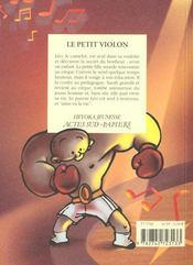 Le Petit Violon - 4ème de couverture - Format classique