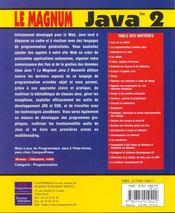 Le magnum java 2 - 4ème de couverture - Format classique