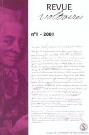 Revue Voltaire N 1-2001 - Couverture - Format classique