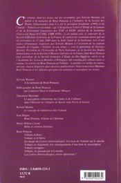 Revue Voltaire N 1-2001 - 4ème de couverture - Format classique