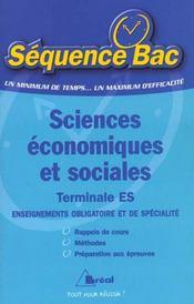 Sciences economiques et sociales es - Intérieur - Format classique