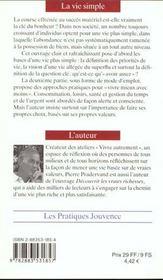 Vie simple : guide pratique (la) n.46 - 4ème de couverture - Format classique