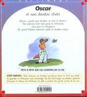 Oscar et son doudou cheri - 4ème de couverture - Format classique