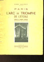 L'Arc De Triomphe De L'Etoile - Couverture - Format classique