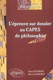 L'Epreuve Sur Dossier Au Capes De Philosophie Capes/Agregation Philosophie - Intérieur - Format classique
