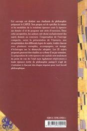 L'Epreuve Sur Dossier Au Capes De Philosophie Capes/Agregation Philosophie - 4ème de couverture - Format classique