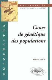 Cours De Genetique Des Populations - Intérieur - Format classique