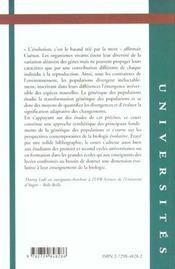 Cours De Genetique Des Populations - 4ème de couverture - Format classique