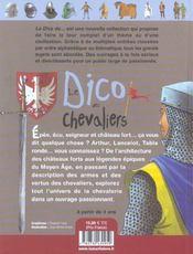 Le dico des chevaliers - 4ème de couverture - Format classique