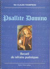Psallite Domino Recueil De Refrains Psalmiques - Intérieur - Format classique