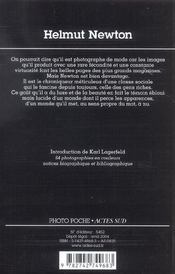 Helmut newton - 4ème de couverture - Format classique