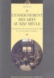 Enseignement Des Arts Au Xixe Siecle. La Reforme De L Ecole Des Beaux Arts De 18 - Intérieur - Format classique