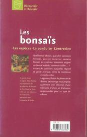 Decouvrir et reussir les bonsais - 4ème de couverture - Format classique