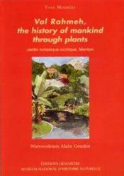 Val Rahmeh, The Story Of Mankind Through Plants - Couverture - Format classique