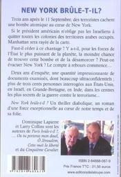 New york brûle-t-il ? - 4ème de couverture - Format classique