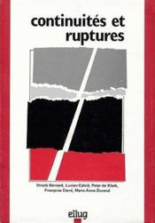 Continuites Et Ruptures - Couverture - Format classique
