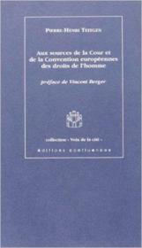 Aux Sources De La Cour Et De La Conventi - Couverture - Format classique