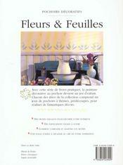 Pochoirs Decoratifs, Fleurs Et Feuilles - 4ème de couverture - Format classique