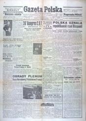 Gazeta Polska N°81 du 10/04/1946 - Couverture - Format classique