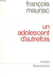 Un Adolescent D'Autrefois. - Couverture - Format classique