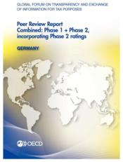 Vente livre :  Global forum on transparency and exchange of information for tax purposes ; Germany (édition 2013)  - Ocde