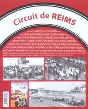 Reims, un circuit de legende - 4ème de couverture - Format classique